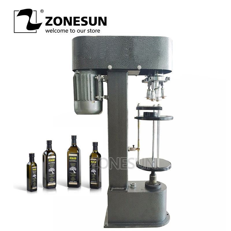 ZONESUN Wine ROPP Bottle Cap Crimping Machine Semi automatic Metal Cap Crimper Aluminum Cap Lock