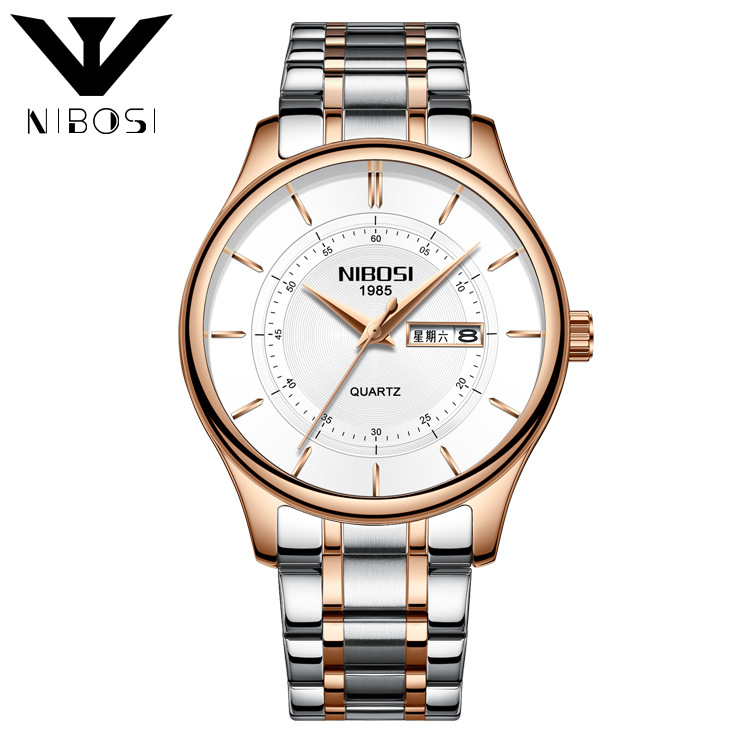 Men 39 s Trend Solar Watch Waterproof Double Butterfly Button Solid Steel Band Watch in Quartz Watches from Watches