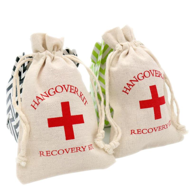 10pcs Hangover Kit Wedding Souvenirs First Aid Gift Bags Bachelorette Party Decorations Drink Event Party Supplies 4x5.5