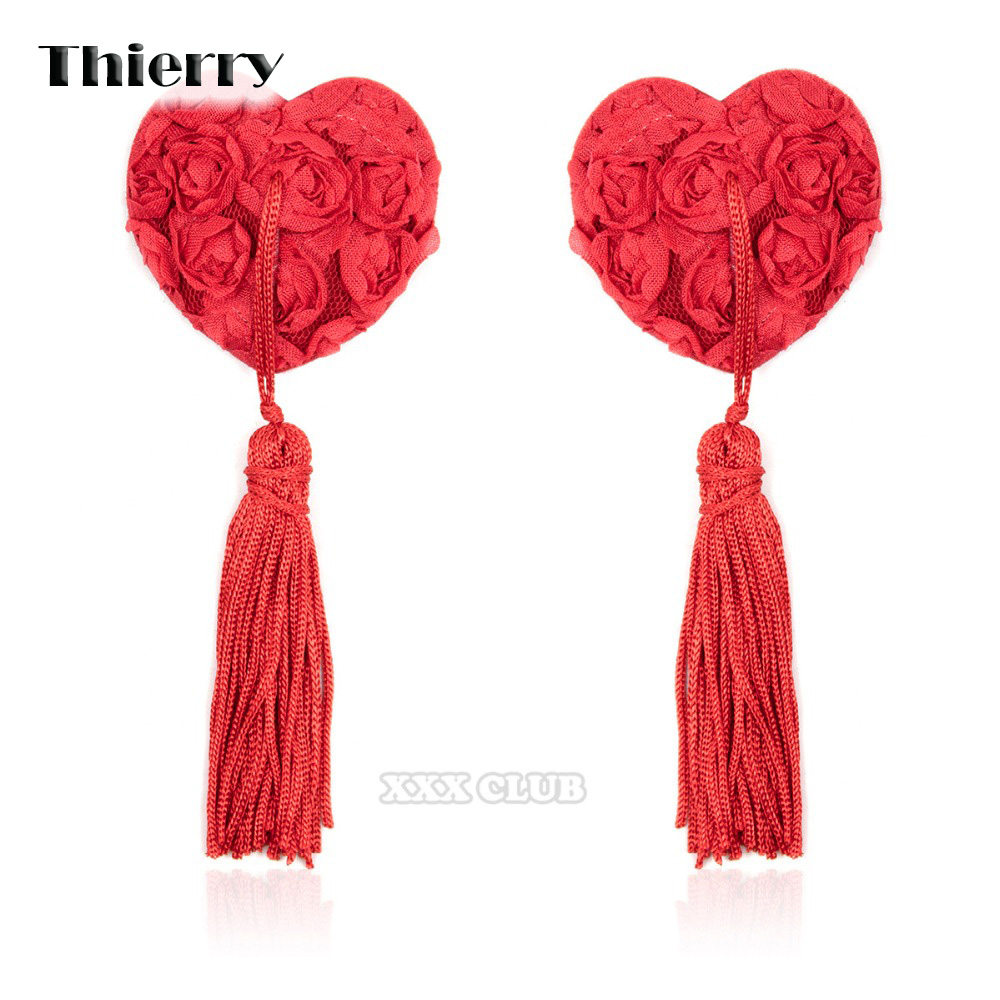 Thierry Nipple Pasties Cover With Rose Fetish Sex Product Toys For Women sex Toys For Couple Flirting And Adult Games Beauty & Health