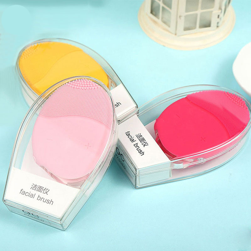 Brush for face wash brush silicone cleansing instrument vacuum pore cleaner cleansing instrument wash face cleansing brush цена
