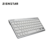 Zienstar AZERTY French  Language Ultra slim Wireless Keyboard Bluetooth 3.0 for ipad/Iphone/Macbook/PC computer/Android tablet mini bluetooth keyboard for iphone android smart phone tablet pc