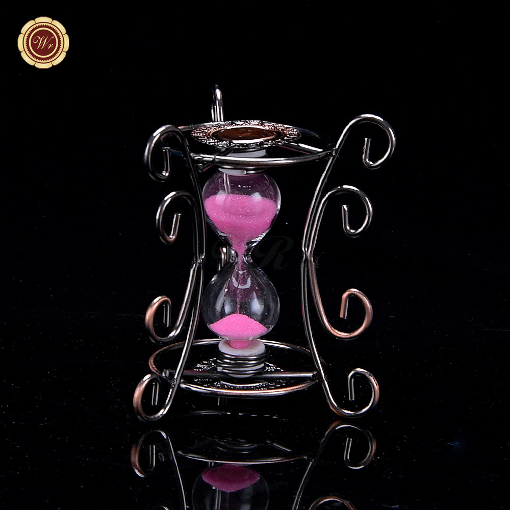 Arts and crafts supplies cheap - Wr Metal Vintage Colored Sand Hourglass Timer Office Home Table Decoration Cheap Arts And Crafts Supplies