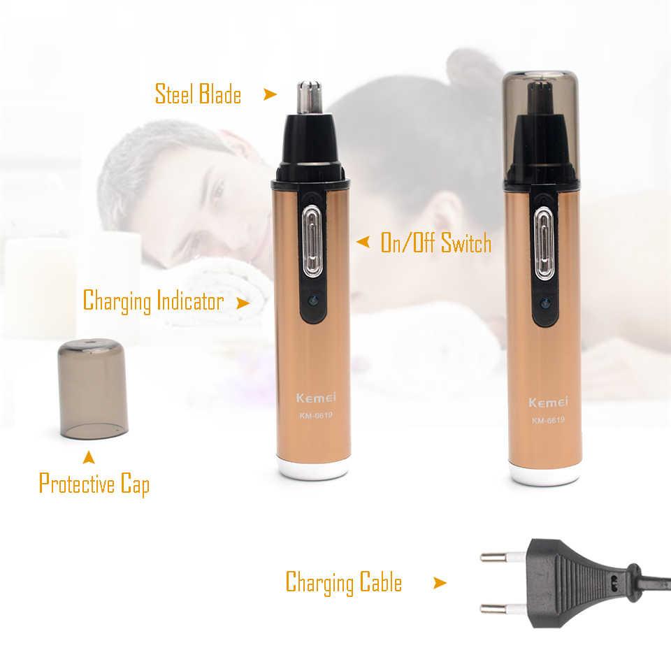 Elektrische Nase Haar Trimmer Wiederaufladbare Professionelle Mode Champagner Farbe Nase Haar Clipper Männer Frauen Ohr Haar Trimmer Marke
