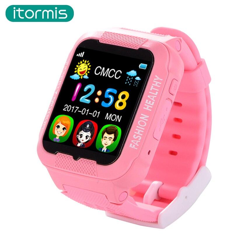 imágenes para 2017 Nueva Llegada itomis W03 Niños Bluetooth Smartwatch GPS de los niños LBS AGPS apoyo reloj inteligente bebé SIM TF tarjeta para IOS