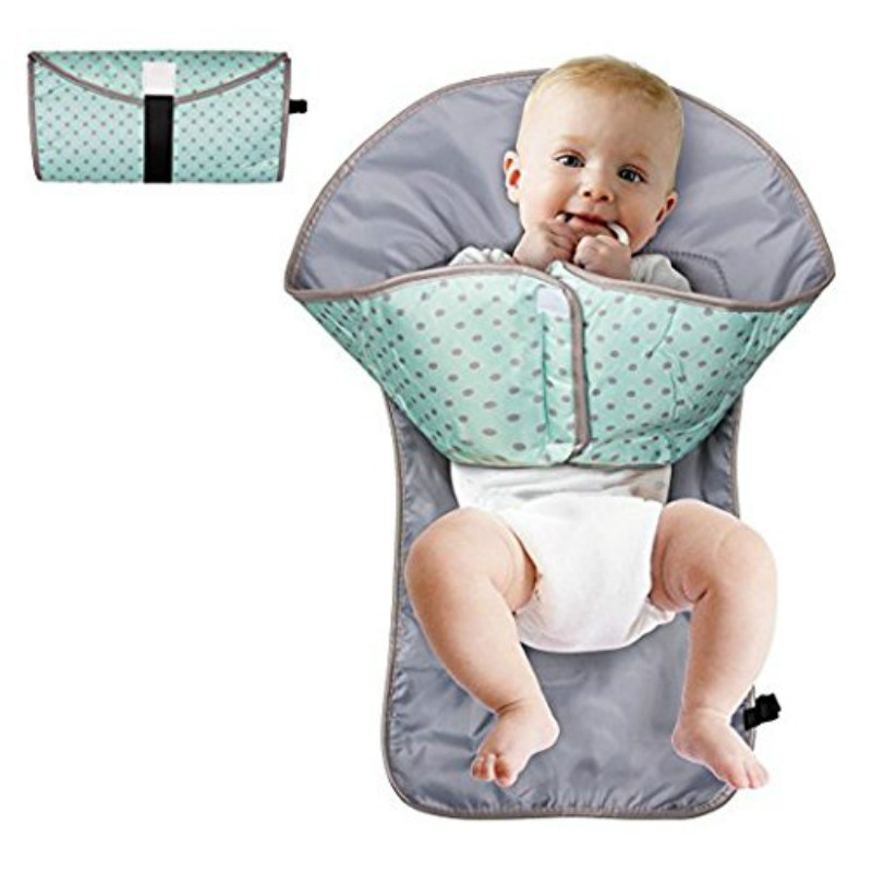 Clean Hands Portable Diaper Changing Pad Clutch Travel Changer Kit Baby and Infant Cover ...