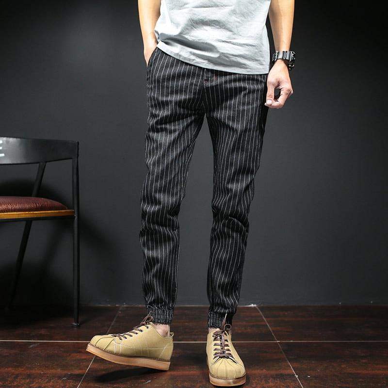 2017 men fashion Slim men stripe jeans denim clothing  Four seasons jeans elastic high quality  pants trousers Plus Size 5XL