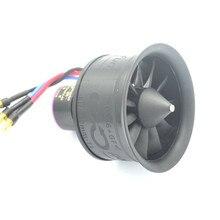 HTIRC 50 мм 11 лопастей воздуховод вентилятор EDF блок с 3S D2627 4900KV бесщеточный двигатель для RC самолета