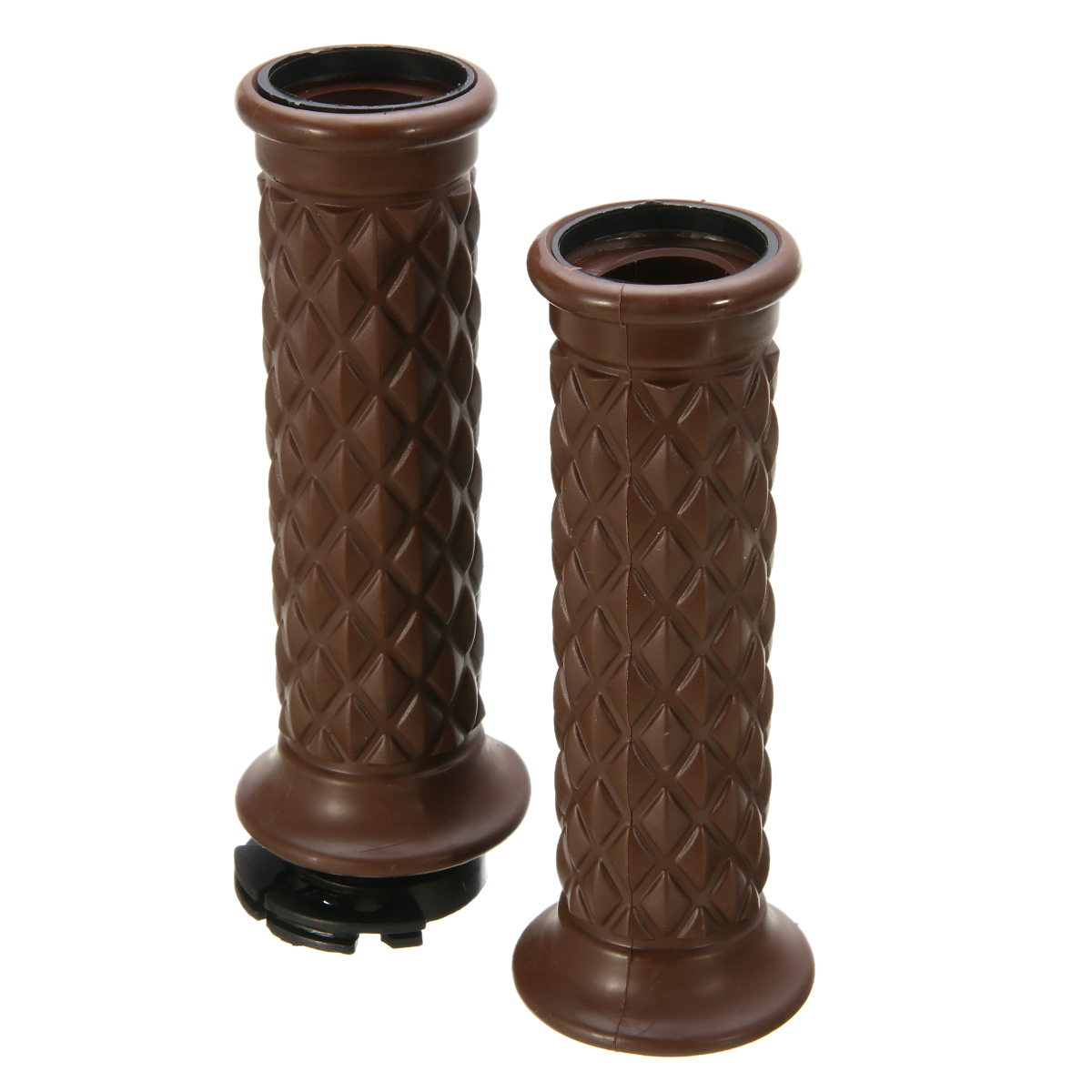 7/8 Comfort Motorcycle Hand Grips Cool Brown Motorcycle Handlebar for Cafe Racer Bobber Clubman Custom цена