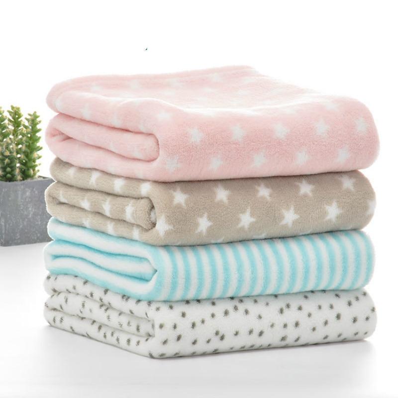 Baby Blanket Winter Outdoor Newborn Fleece Swaddling Warm Soft Pink Baby Bedding 75*100CM