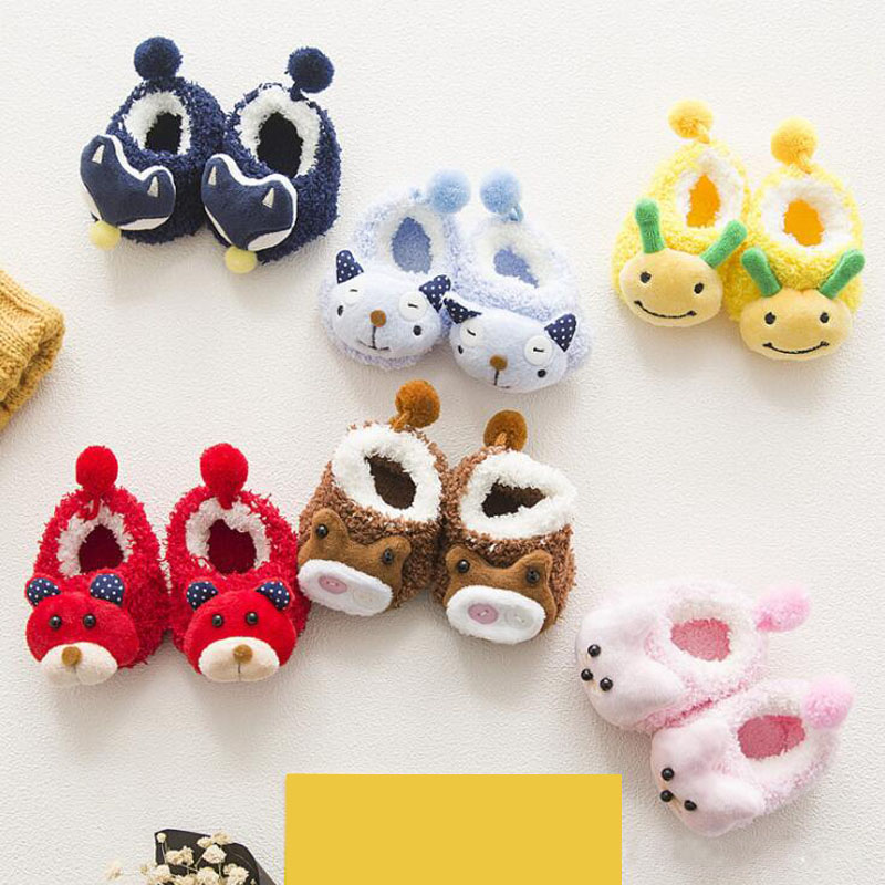 Fashion New Thick Baby Toddler Socks Cartoon Cute Doll Cashmere Foot Socks