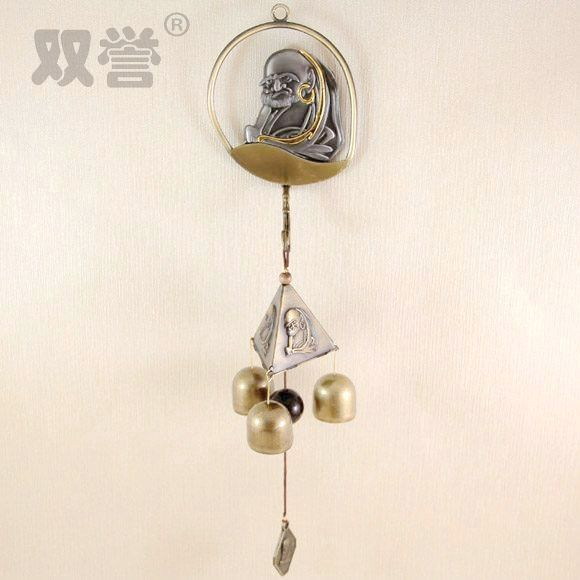 Metal Wind Bell Feng Shui Bell Chinese Blessing Good Luck Fortune Hanging Charm door anti- & Metal Wind Bell Feng Shui Bell Chinese Blessing Good Luck Fortune ...