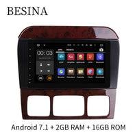 Besina 2 Din 8 дюймов Android 7,1 dvd плеер автомобиля для Mercedes Benz W220 W215 S280 S320 S350 S400 S500 CL600 S класса gps навигации