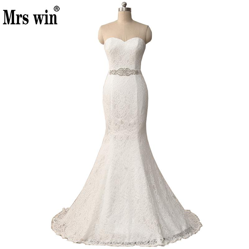 Hot Sale 2018 New Mermaid Wedding Dresses Elegant Beautiful Lace Flowers Mariage Bridal Dress Vestidos De Noiva Robe De