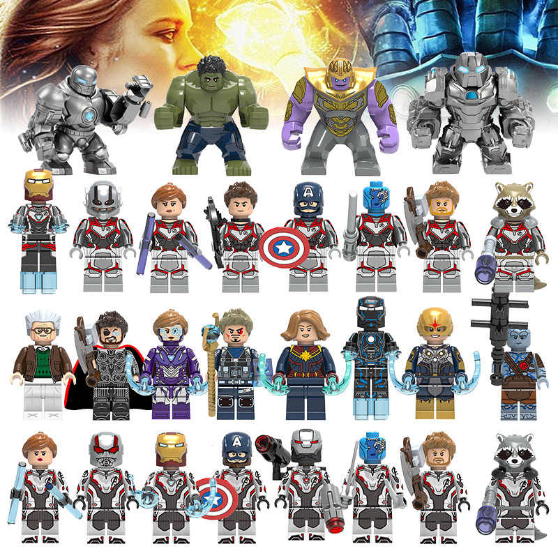 Building Blocks Legoings Marvel Avengers 4 Endgame Comics Super Heroes New Figures Bricks Toys for Kids Juguetes Gift Boys