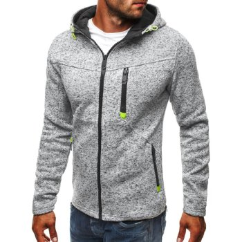 Plus Size 3XL Men Hoodies 2018 Autumn Winter Hooded Sweatshirts Slim Zipper Mens Coat Bomber Jackets Sportwear Moletom Cardigan 1