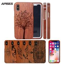 Egzotik Kafatası Ağacı Çiçek Ahşap Telefon iphone için kılıf 8 6 6 S 8 Artı 7 7 Artı 5 5 s SE X Durumda Çapa Sert arka kapak