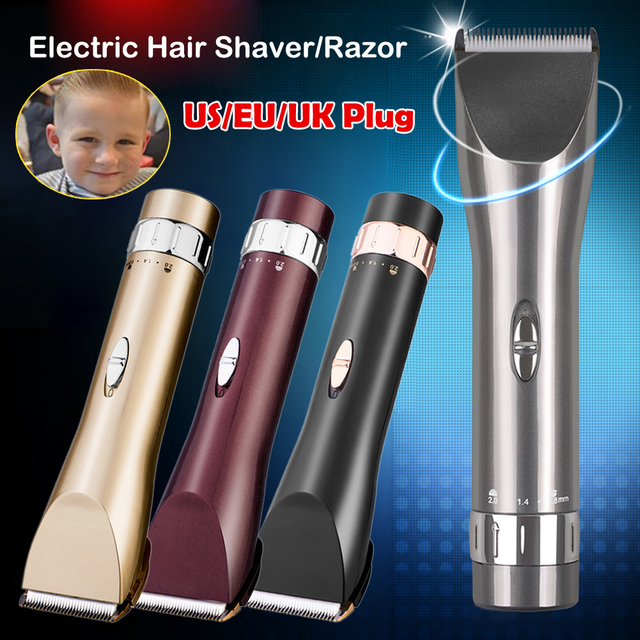 Top Quality US EU UK Aluminum Alloy Electric Clipper Hair Trimmer Professionl Rechargeable Hair Cutting Machine Haircut Men Baby