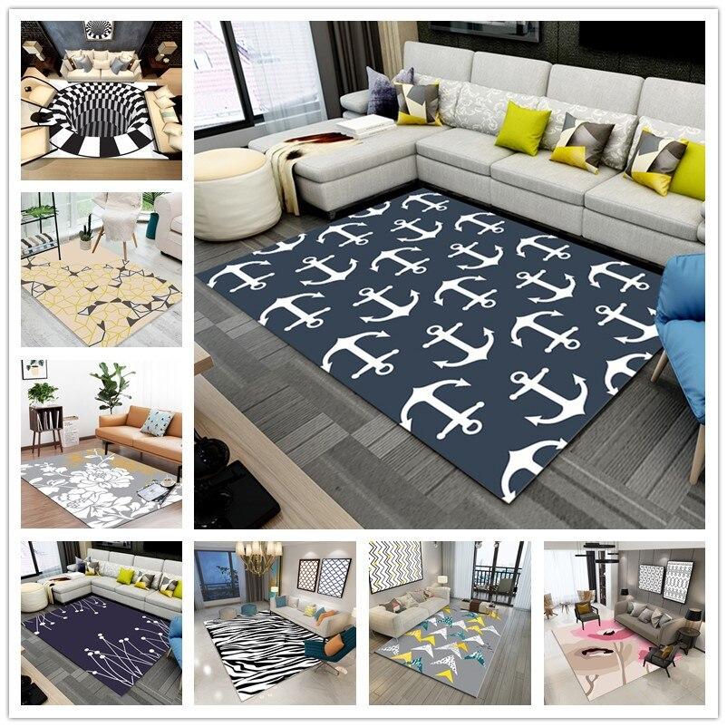 Современный минималистский 3D печати ковры гостиная прикроватная тумбочка для спальни журнальный столик исследование Ресторан зал фойе дв...