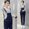 Good quality Maternity denim bib pants trousers spring and autumn spring thin all-match skinny pants autumn and winter