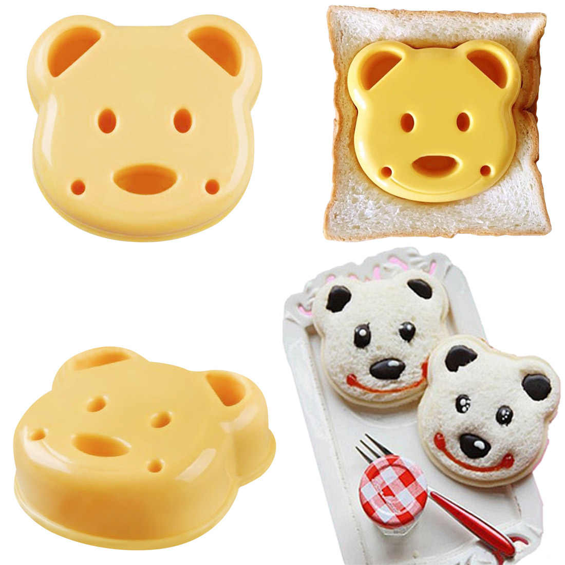 1x Bear Shape DIY Biscuit Cookie Pastry Mold Kitchen Aluminium V2T5 Tool D3K8