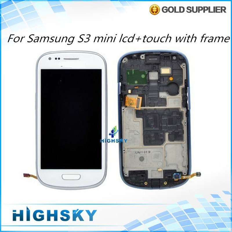 ФОТО 10 pcs/lot Free DHL EMS  Assembly Replacement Frame + LCD With Touch For Display Samsung Galaxy S3 mini i8190