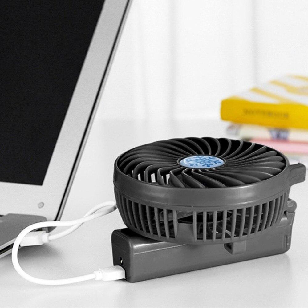 Handheld USB Fan Cooler Portable Mini Fan Battery Operated Rechargeable Foldable Handy Small Desk Desktop USB Cooling Fan Black