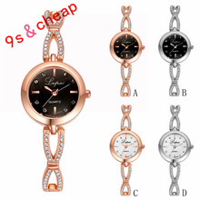 Fashion Ladies Women Stainless Steel  Rhinestone Quartz Wrist Watch  #3344 Brand New High Quality Luxury Free Shipping