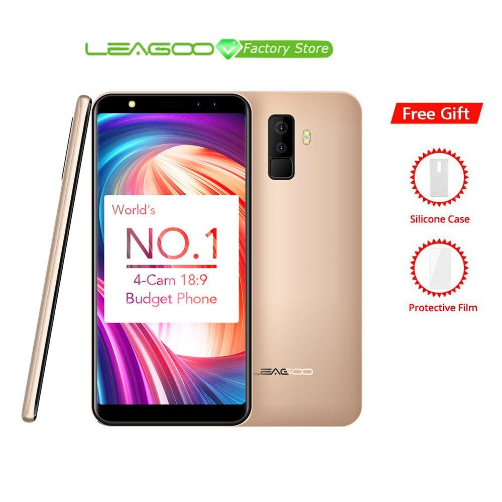 "Leagoo M9 18:9 Volle Bildschirm Vier Cams Android 7.0 MT6580A 5,5 ""Quad Core 2 GB RAM 16 GB ROM 8.0MP Fingerprint 3G WCDMA Handy-in Handys aus Handys & Telekommunikation bei AliExpress - 11.11_Doppel-11Tag der Singles 1"