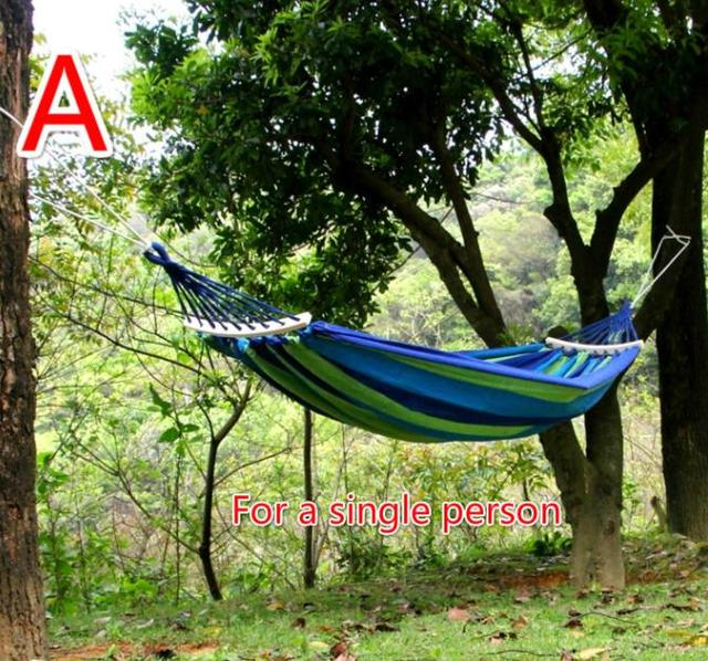 New arrival outdoor thickness canvas swing high quality outdoor camping hammock special for single person