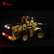 Купить с кэшбэком LED Light for lego 42030 Compatible 20006 technic Volvo L350F wheel loader Building Blocks Bricks (only lights with Battery box)