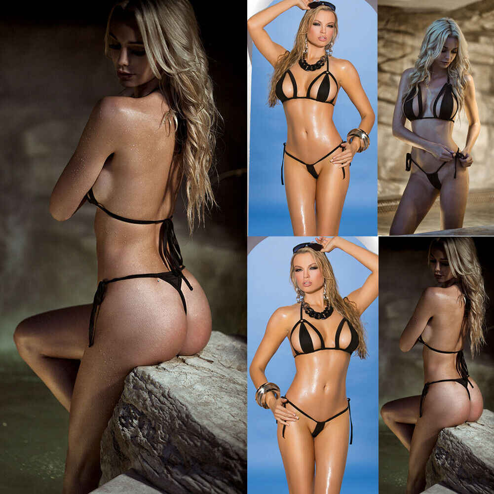 2019 Terbaru Hot Seksi Frauen Push-Up Lembut Bra Tali Perban Bikini Set Pakaian Renang Baju Renang Mandi Brasil Mandi Pantai