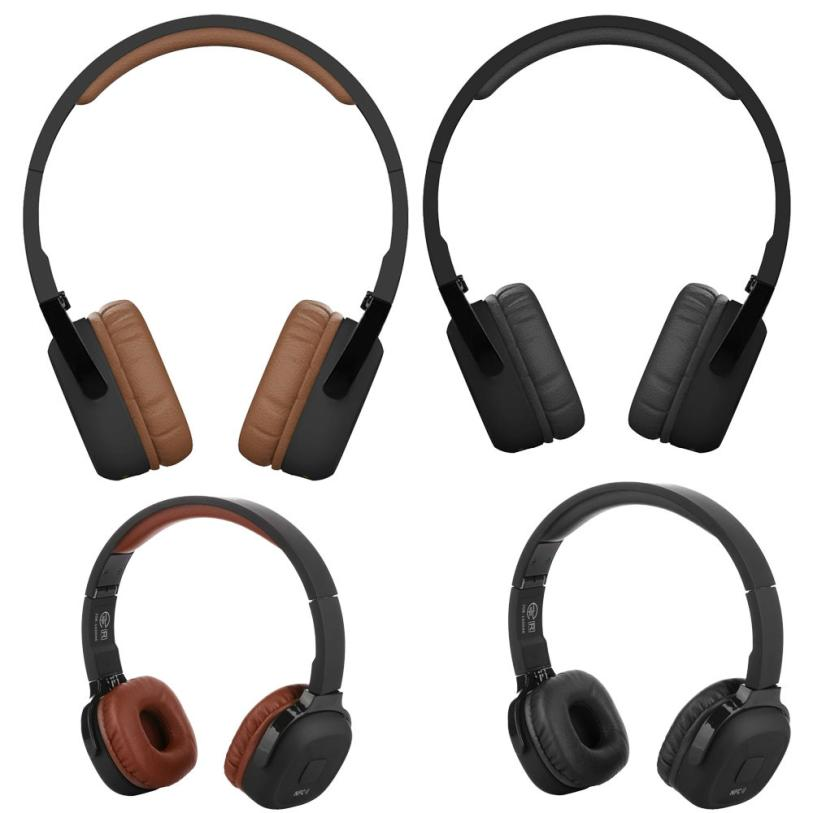 High Quality Super Bass Wireless On Ear Bluetooth Headphones with Mic Audio and Wired Mode Built-in Microphone meelectronics atlas on ear headphones with inline microphone and universal volume control