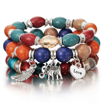 Colorful Beaded Bohemian Bracelets Set