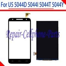 Купить 100% тестирование ЖК-дисплей дисплей + Сенсорный экран планшета для Alcatel One Touch U5 5044d 5044i 5044 т 5044y (только fit 854×480)