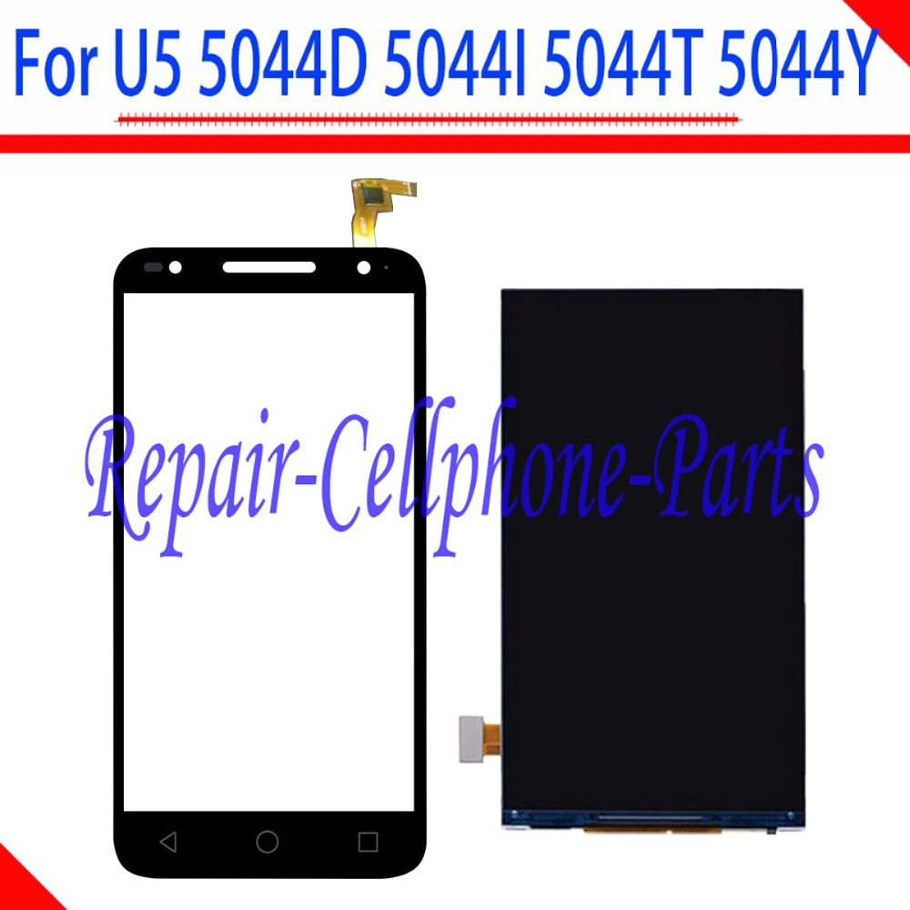 100% Tested Full LCD DIsplay+Touch Screen Digitizer For Alcatel One Touch U5 5044D 5044I 5044T 5044Y ( only fit 854x480 )