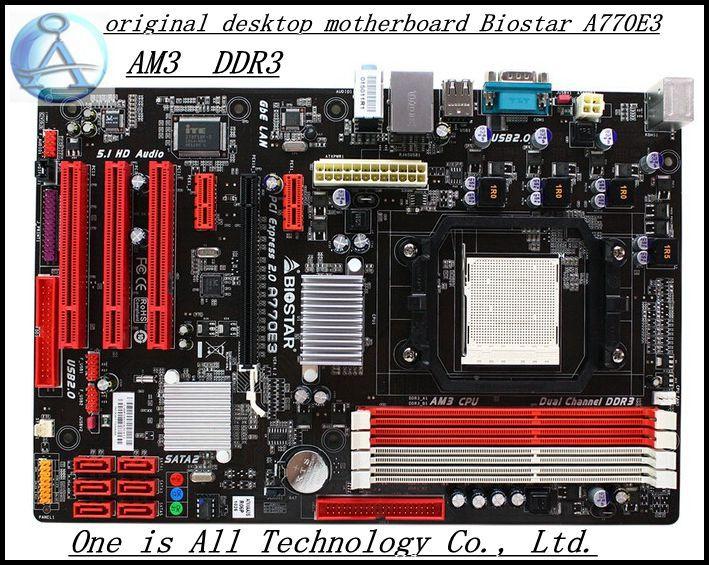 original desktop motherboard for Biostar A770E3 DDR3 Socket AM3 font b boards b font 16GB USB2
