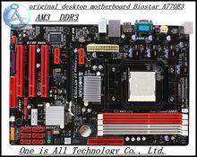 Оригинальный рабочего материнская плата для Biostar A770E3 AM3 DDR3 Socket платы 16 ГБ USB2.0 платы Бесплатная доставка