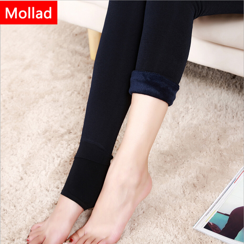 Mollad 2018 Yeni Qış Qadın Leggings Moda Plus Məxmər Qış İsti - Qadın geyimi - Fotoqrafiya 3