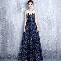 Plus Size Bohemian Novelty Women Dress Star Blue Wedding Gowns Floor Length Elegant Cheongsam S 5XL