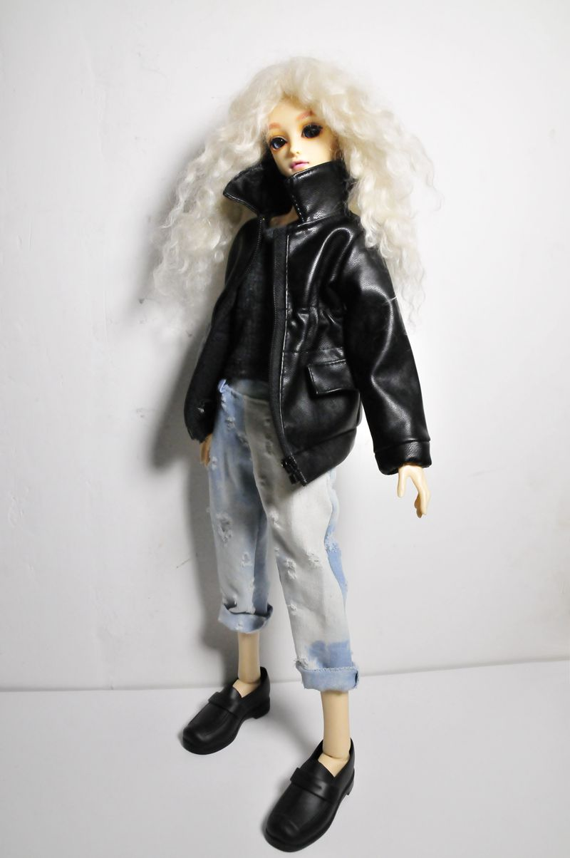 Doll Coat Leather Coat BJD Doll Clothes For 1/4 BJD SD DD Doll Clothes Doll Accessories