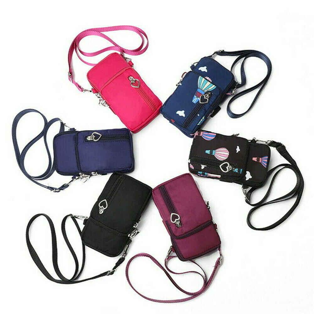 新しいコイン袋ミニナイロン Crossody 携帯電話現金メッセンジャーショルダーバッグストラップ財布ポーチバッグ財布防水