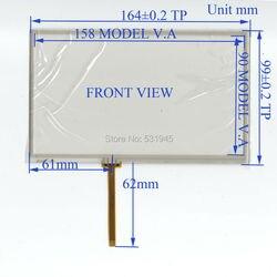 ZhiYuSun M2 1239 7 Polegadas Tela de Toque 4 linha de solda 164mm * 99mm para CARROS GPS 164*99 este compatível touchsensor