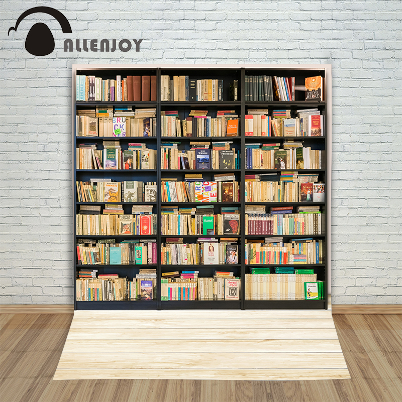 Allenjoy Christmas backdrop Bookcase bookshelf indoor wood floor vinyl fabric backdrop for photography new 10ft 20ft romantic wedding backdrop f 894 fabric background idea wood floor digital photography backdrop for picture taking