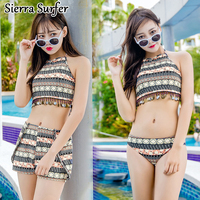 Swimsuit Retro Bohemia Bikini Three Sets Of Sexy Small Chest Together To Show A Thin Hot
