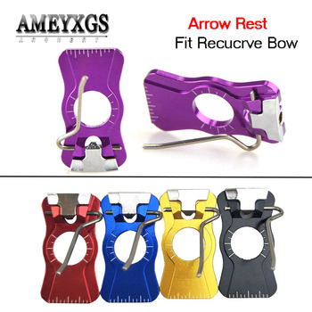 1pc Recurve Bow Arrow Rest Magnetic Adhesive Arrow Rest Right Hand For Arcehry Practice Outdoor Hunting Shooting Accessories 1 piece diameter 60cm arcehry straw grass target shooting practice recurve traditional compound bow slingshot training