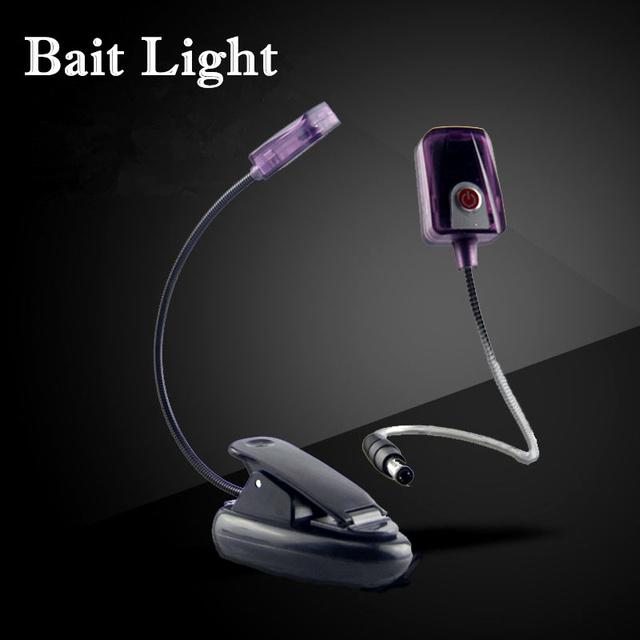 Indução infravermelha lâmpada LED clip-on da placa puxar a isca isca de pesca luz mini Carga portátil luz da noite para a pesca