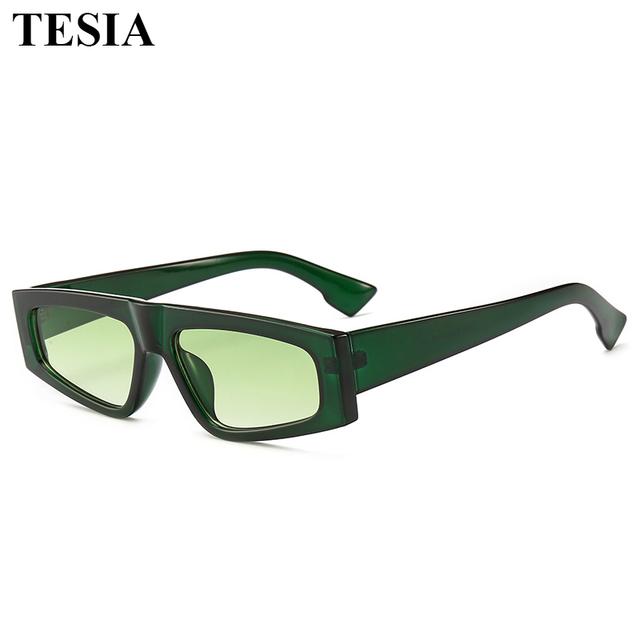 2019 Small Square Simple Sun Glasses For Men Sunglasses Brand Designer Narrow Rectangle Mirror Sunglasses Men Women Oculos Retro