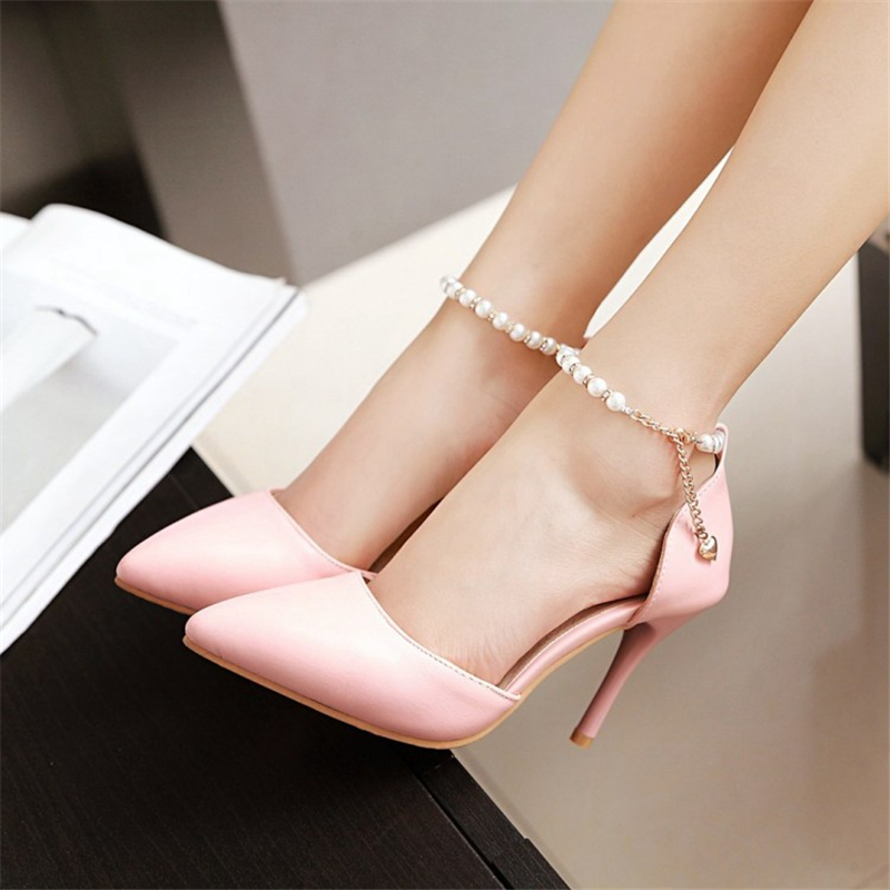 Pumps PU Shoes Woman s Big 45 46 43 44 41 42 Small 32 33 High
