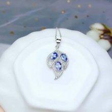shilovem 925 silver sterling natural tanzanite pendants trendy fine Jewelry women new gift  4*6mm bz0406222agts цена